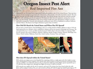 Oregon Insect Pest Alert: Red Imported Fire Ants