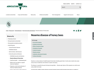 Nosema Disease of Honey Bees