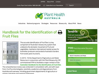 The Australian Handbook                              					for the Identification of Fruit Flies - Version 2.1