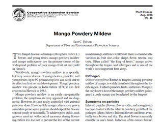 Mango Powdery Mildew