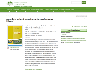 A Guide to Upland Cropping in Cambodia: Maize