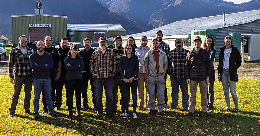 Participants and instructors from an identification workshop for moths and sawflies held in Palmer, Alaska